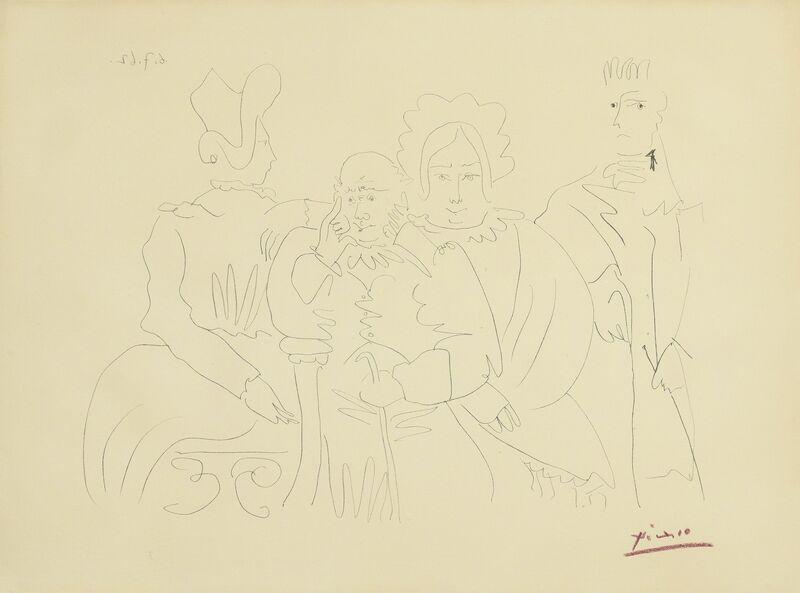 Pablo Picasso, 'Portrait de famille, quatre personnages dont trois assis', 1962, Print, Lithograph on Arches wove paper, Christie's