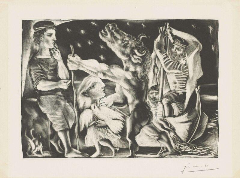 Pablo Picasso, 'Minotaure aveugle guidé par une Fillette dans la Nuit, from: La Suite Vollard', 1934, Print, Aquatint and drypoint on Montval laid paper, Christie's