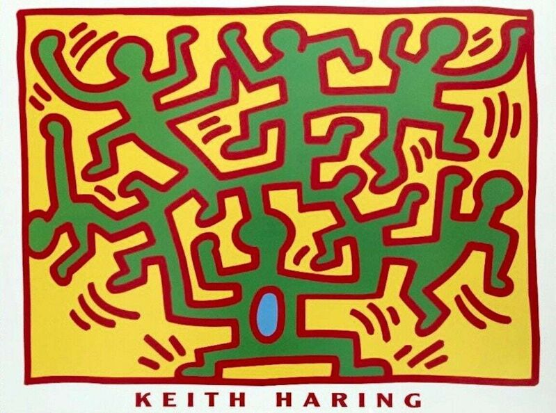 Keith Haring, 'Untitled, 1988 (From Growing Series), Exhibition Poster', 1988, Ephemera or Merchandise, Offset lithograph on premium paper, Art Commerce