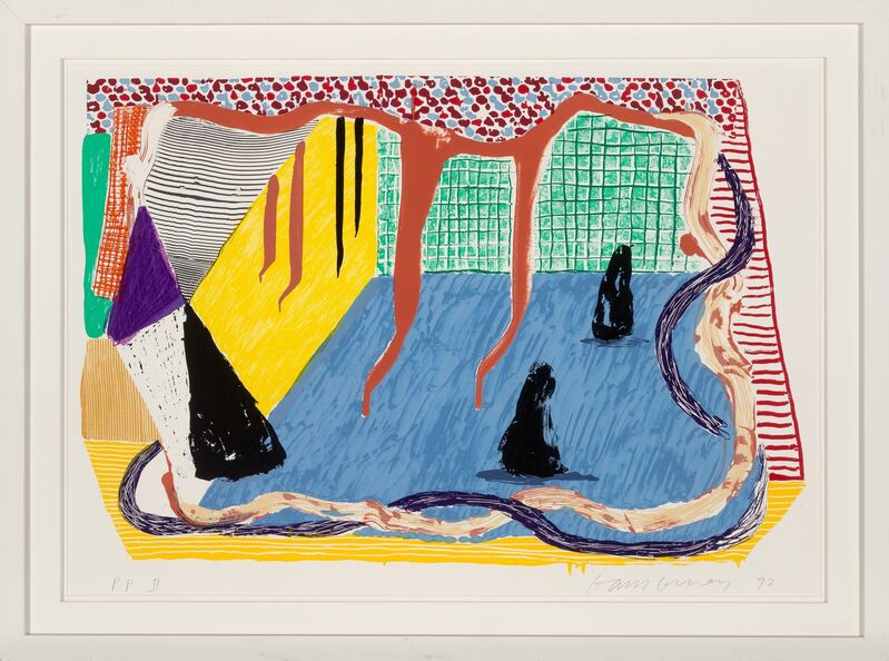 David Hockney, 'Ink in the Room, from Some New Prints', 1993, Print, Screenprint in colors on Arches 88 paper, Heritage Auctions
