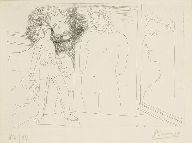 Pablo Picasso, 'Sculpteur avec sculpture et d'autres oeuvres (B. 86; Ba. 127)', 1927, Print, Etching, Sotheby's