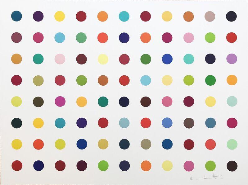 Damien Hirst, 'M-Fluorobenzylamine', 2018, Print, Woodcut, Hamilton-Selway Fine Art Gallery Auction