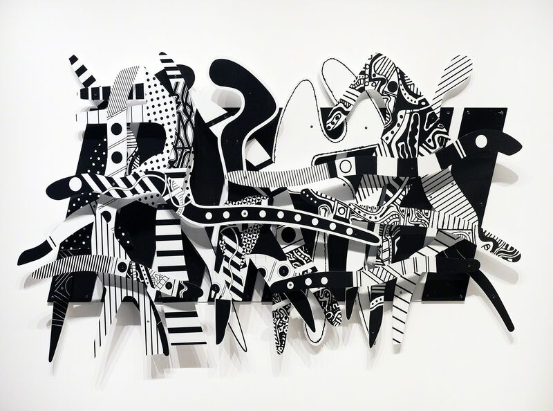 Charles McGee, 'Rhapsody in Black and White', 2008, Mixed Media, Ultraviolet ink-jet spray system on dibond, Library Street Collective