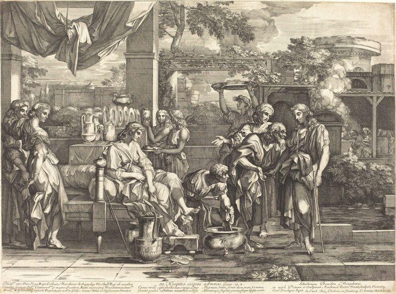 Sébastien Bourdon, 'Hospitio exipere advenas', Print, Engraving, National Gallery of Art, Washington, D.C.