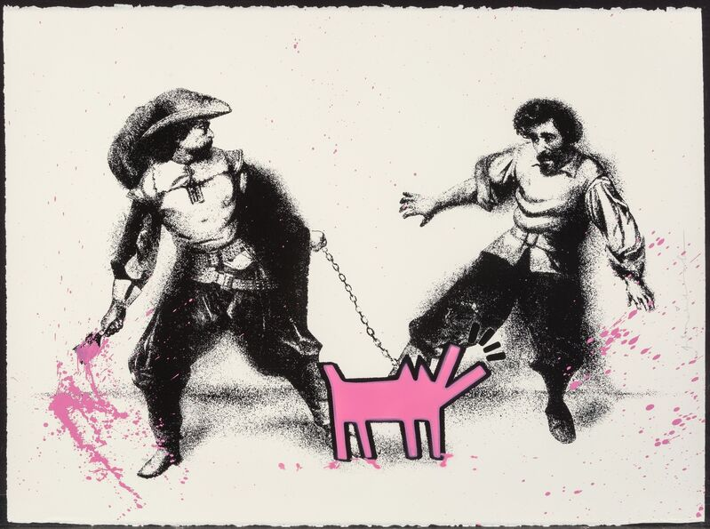 Mr. Brainwash, 'Watch Out! Pink', 2019, Print, Screenprint with hand coloring and stencil, on archival paper, Heritage Auctions