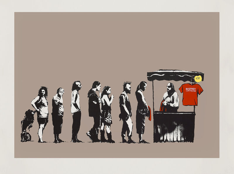 Banksy, 'Festival ( AP Brown Colourway)', 2006, Print, Screen print in colours on end paper, Tate Ward Auctions
