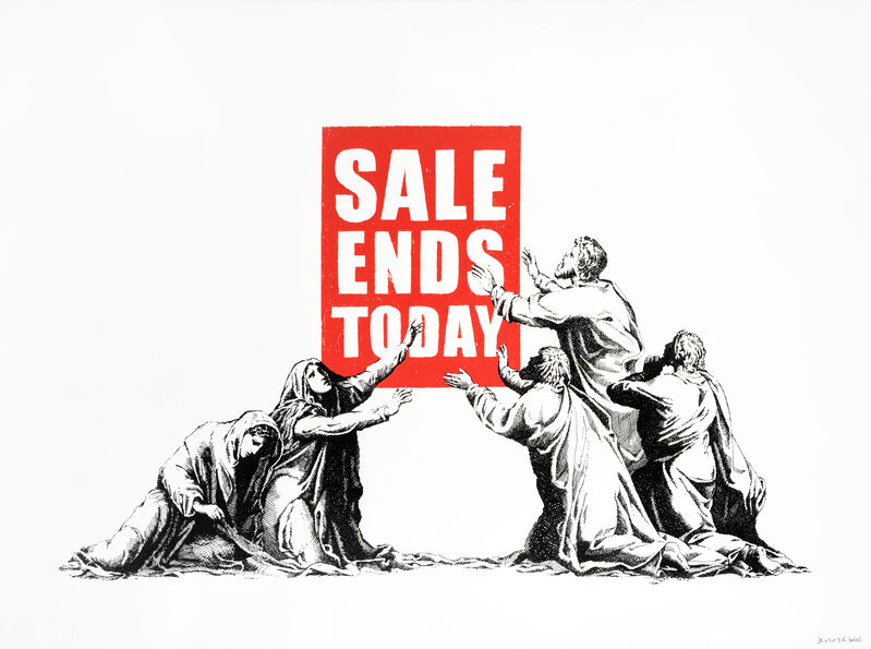 Banksy, 'Sale Ends (V2)', 2017, Print, Screen print in colours on wove paper, Tate Ward Auctions