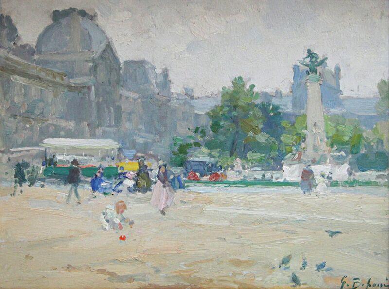 Gennaro Befanio, 'Vue du Louvre', 1866, Painting, Oil on board, Taylor | Graham