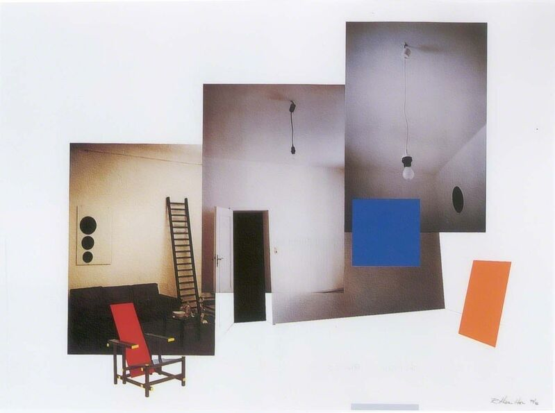 Richard Hamilton, 'Interior with monochromes', 1979, Print, Collotype in 6 colours and screenprint from 5 stencils on Ivorex paper, Cristea Roberts Gallery
