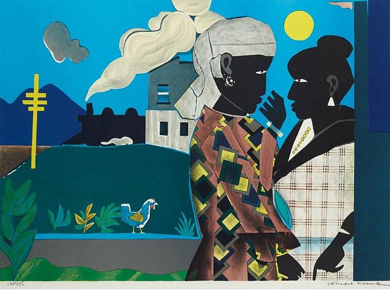 Romare Bearden, 'Conversation', 1979, Print, Color lithograph, Kiechel Fine Art