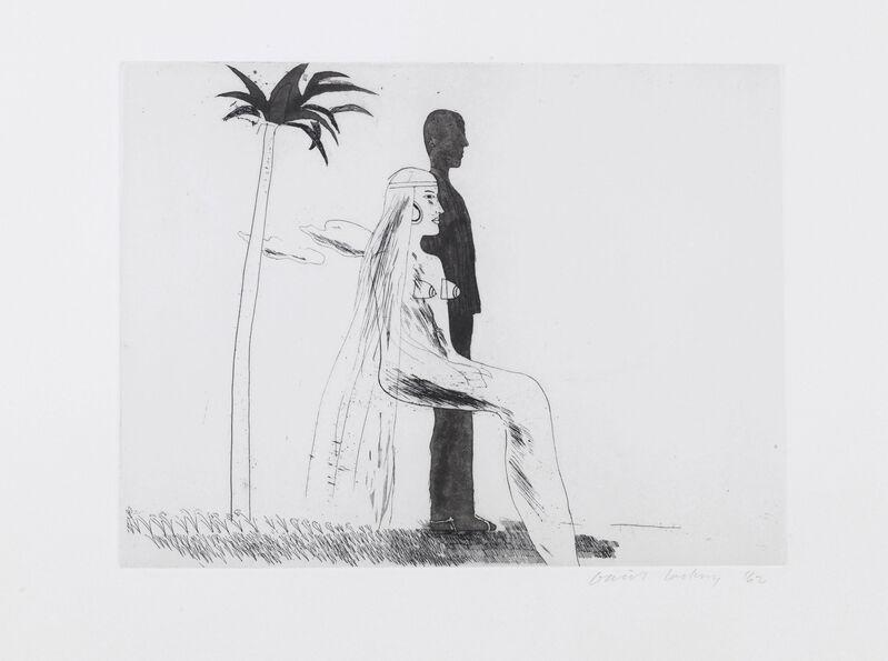 David Hockney, 'The Marriage', 1962, Print, Etching and aquatint, Lyndsey Ingram