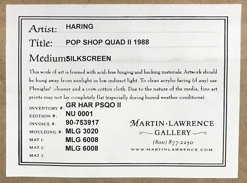 Keith Haring, 'POP SHOP QUAD II', 1988, Print, SCREENPRINT, Gallery Art