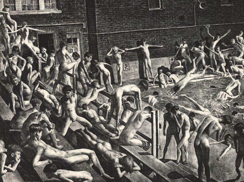 Robert Riggs, 'Pool.', 1935, Print, Lithograph,, The Old Print Shop, Inc.