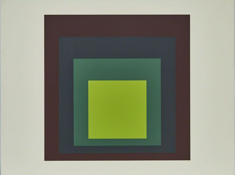 Josef Albers, 'I-S'K (From Homage to the Square)', 1973, Print, Colour silkscreen on heavy etching paper, Waddington's
