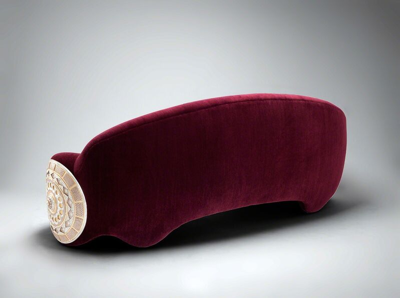Mattia Bonetti, 'Sofa 'Shield'', 2014, Design/Decorative Art, Gilded carved wood, mohair, David Gill Gallery