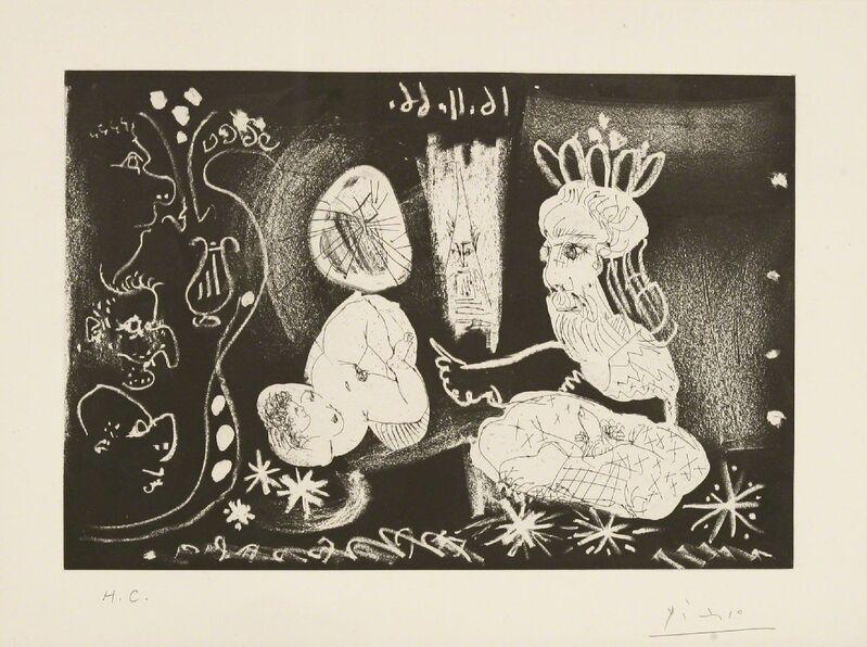 Pablo Picasso, 'Au Theatre Scene Dans Le Style Des Mille Et Une Nuits (Bloch 1251)', 1968, Print, Etching with aquatint, Sworders