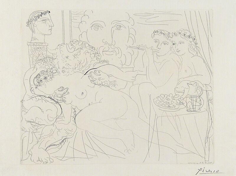 Pablo Picasso, 'Minotaure caressant une Femme from La Suite Vollard', Print, Etching on Montval paper with Vollard watermark, Rago/Wright/LAMA