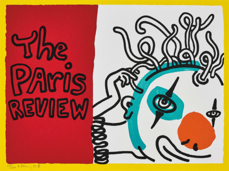 Keith Haring, 'The Paris Review', 1989, Print, Screenprint on paper, Taglialatella Galleries