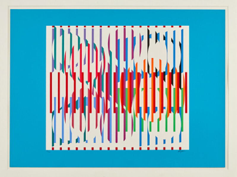 Yaacov Agam, 'Composition, (Hommage aux Prix Nobel)', 1975, Print, Color lithograph, Anders Wahlstedt Fine Art