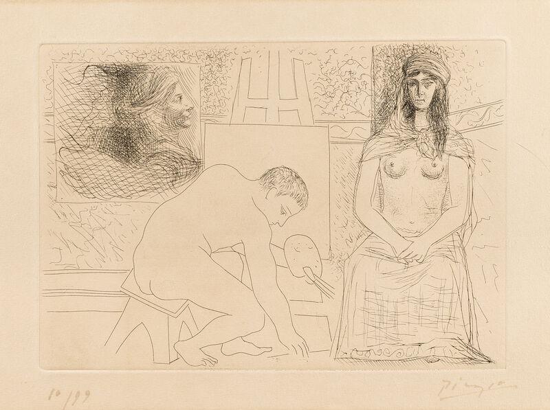 Pablo Picasso, 'Peintre ramassant son Pinceau', 1927, Print, Etching on Van Gelder paper, Il Ponte