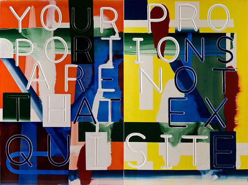 Graham Gillmore, 'Your Proportions Are Not That Exquisite', 2012, Painting, Oil and enamel on panel, Gallery 16