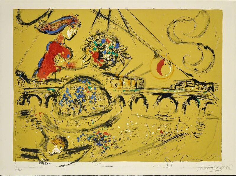 Marc Chagall, 'Île Saint-Louis (M.225)', 1959, Print, Hand-signed lithograph, Martin Lawrence Galleries