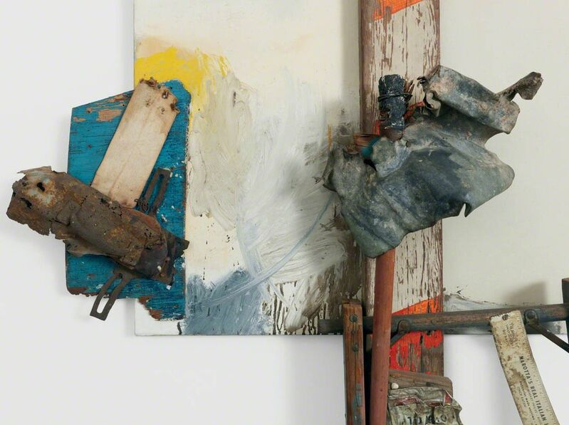 Robert Rauschenberg, 'Aen Floga (Combine Painting)', 1962, Mixed Media, Oil on canvas with wood, metal, and wire, Gagosian