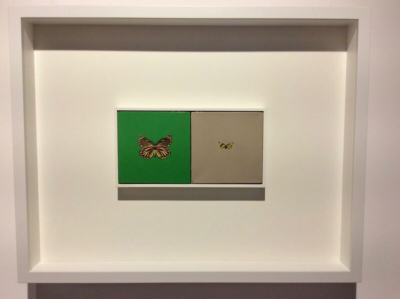 Damien Hirst, 'LOVE, LOVE', 2005, Painting, Butterflies and household gloss on canvas, Joseph Fine Art LONDON
