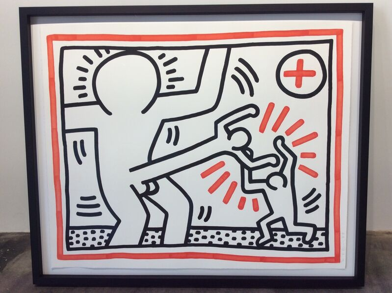 Keith Haring, 'Cock Fight', 1985, Print, Lithograph on paper, Joseph Fine Art LONDON