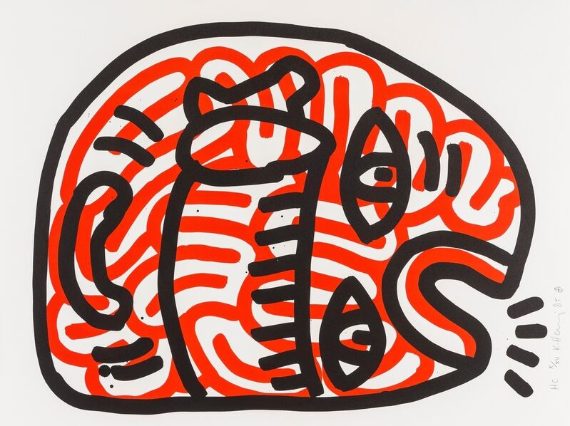 Keith Haring, 'Ludo (See. Littmann page 46)', 1986, Print, Lithograph printed in colours, Forum Auctions