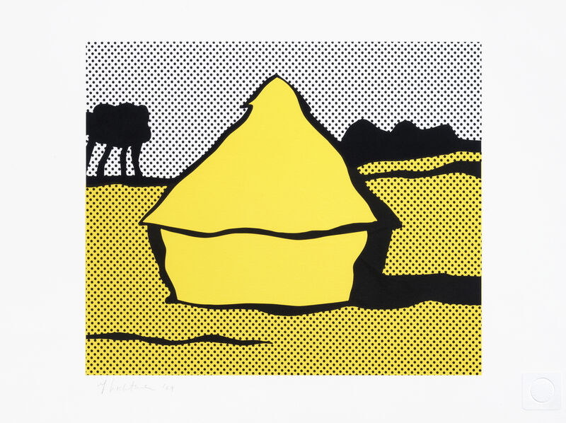Roy Lichtenstein, 'Haystack', 1969, Print, Screenprint in colours on C. M. Fabriano 100/100 Cotone paper, Tate Ward Auctions