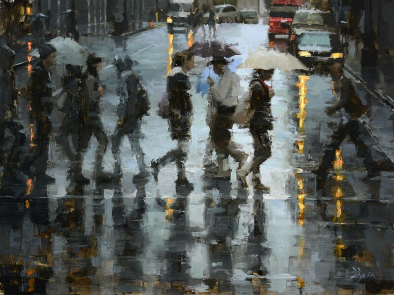 Jacob Dhein, 'Crossing at O'Farrell St', 2015, Painting, Oil, Abend Gallery