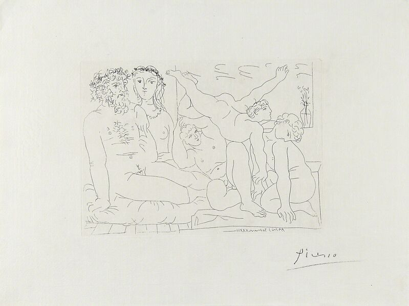 Pablo Picasso, 'Famille de Saltimbanques from La Suite Vollard', 1933, Print, Etching on Montval paper with Vollard watermark, Rago/Wright