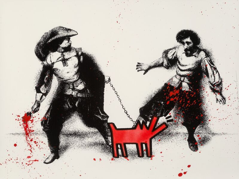 Mr. Brainwash, 'Watch Out! (Red)', 2019, Print, Screenprint with hand coloring and stencil, on archival paper, Heritage Auctions