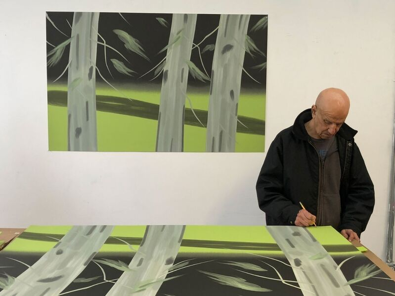 Alex Katz, 'Three Trees', 2018, Print, 20-color silkscreen print, Frank Fluegel Gallery
