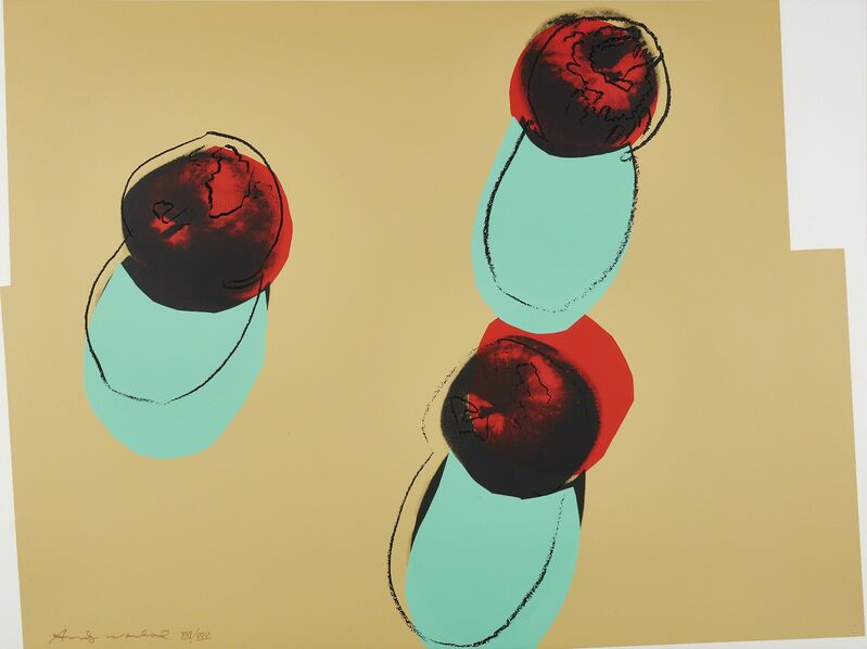 Andy Warhol, 'Apples, from Space Fruit: Still Lifes', 1979, Print, Screenprint in colors, on 4-ply Lenox Museum Board, the full sheet., Phillips