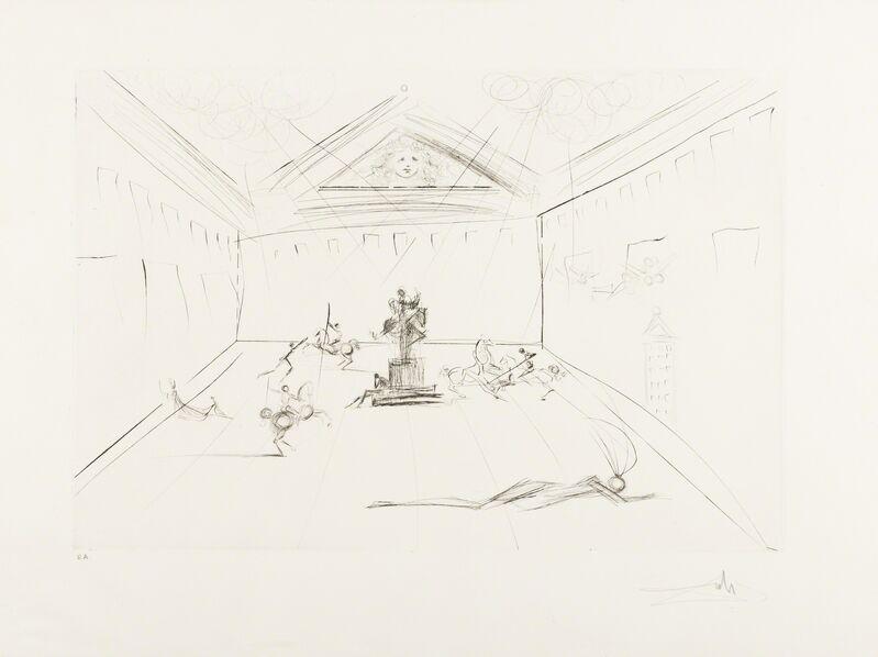 Salvador Dalí, 'Plaza Mayor (M&L 582a; Field 73-11)', 1973, Print, Etching, Forum Auctions