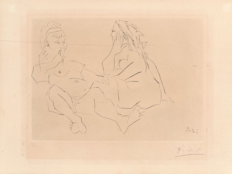 Pablo Picasso, 'Deux femmes III (Two Women III)', 1965, Print, Drypoint on paper, Heritage Auctions