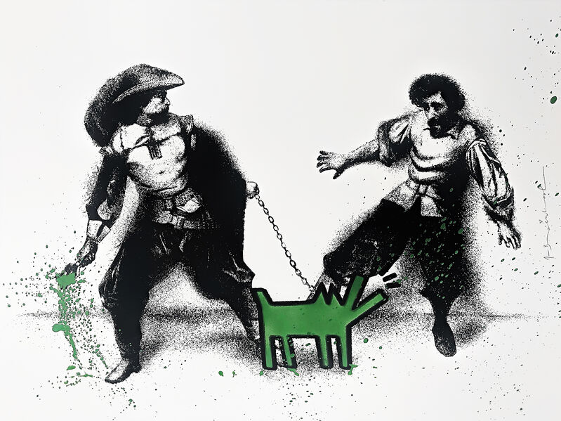 Mr. Brainwash, 'Watch Out (Green)', 2019, Print, Hand embellished screen print on archival paper, Tate Ward Auctions
