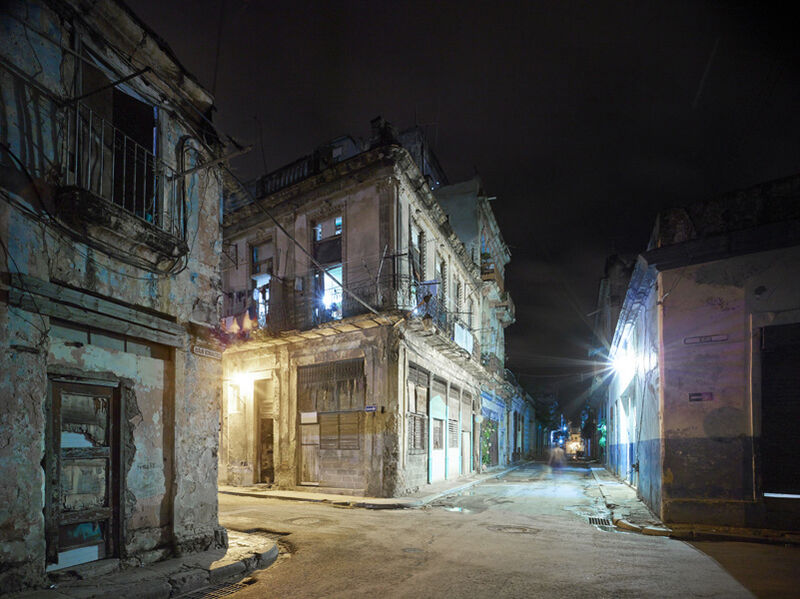 David Burdeny, 'Old Havana Corner (Night), Havana, Cuba', 2014, Photography, Épreuve couleur / C-Print, Galerie de Bellefeuille