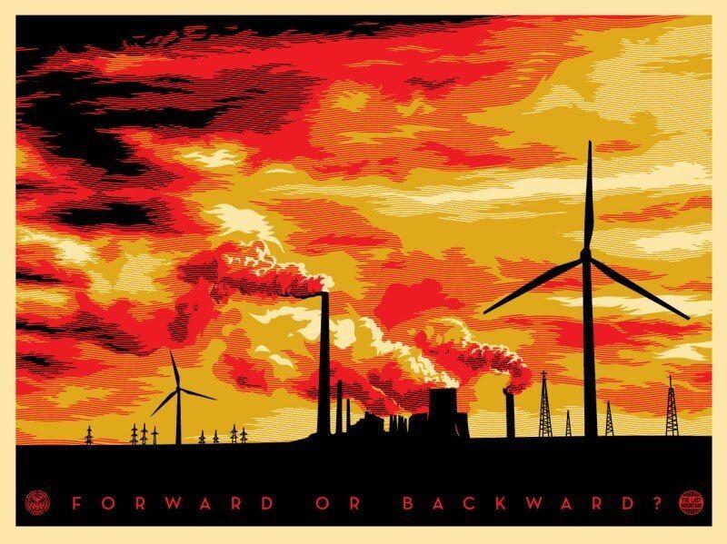 Shepard Fairey, 'Last mountain forward or backward', 2011, Print, Screenprint on paper, Rudolf Budja Gallery
