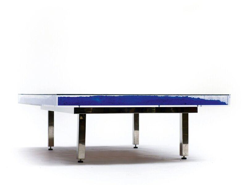 Yves Klein, 'Table Bleu', 1961, Design/Decorative Art, International Klein Blue pigment, glass, plexiglass and steel., Galeria Senda