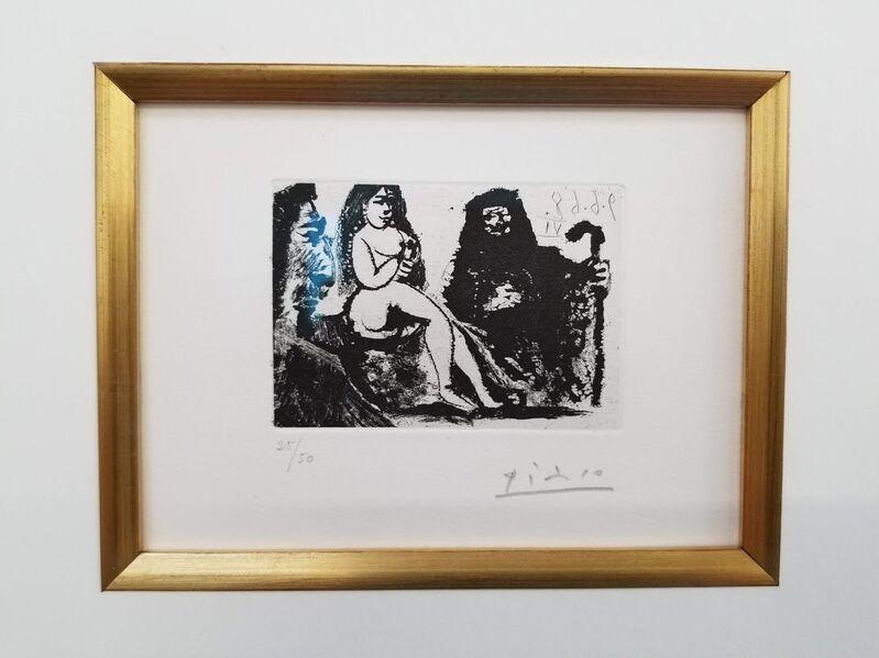 Pablo Picasso, 'Visiteur au nez bourbonien chez la Célestine', 1968, Print, Aquatint, on Rives paper, Level1 Gallery