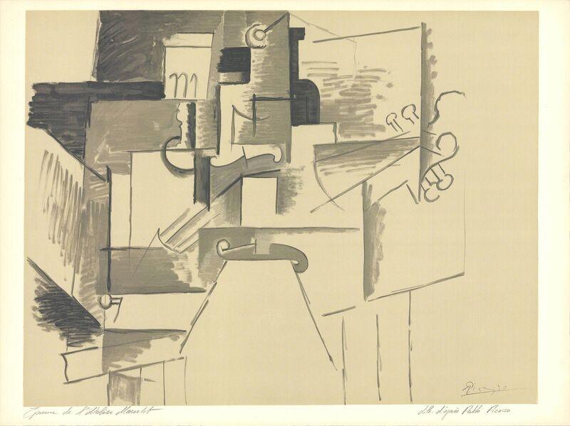Pablo Picasso, 'La Table et le Guitare (d'apres Picasso)', 1956, Ephemera or Merchandise, Stone Lithograph, ArtWise