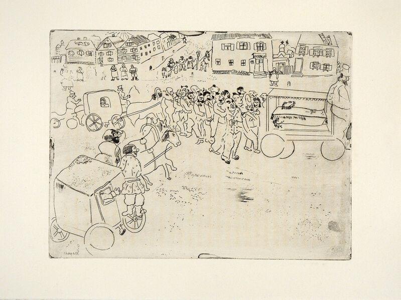 Marc Chagall, 'L'Enterrement du Procureur', 1948, Print, Etching, Goldmark Gallery