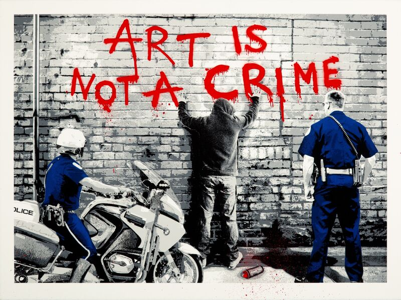 Mr. Brainwash, 'Art is Not a Crime', 2013, Print, Screenprint in colors with stencil and hand-embellishments on Archival Art paper, Heritage Auctions