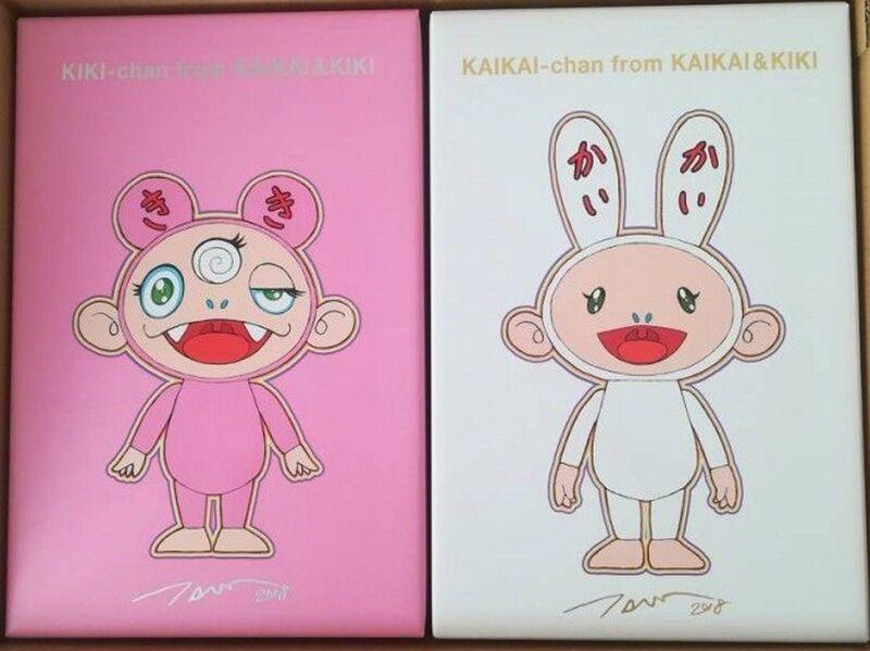 Takashi Murakami, 'Kaikai & Kiki (set of 2)', 2018, Sculpture, Vinyl, EHC Fine Art