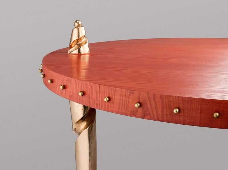 Elizabeth Garouste and Mattia Bonetti, 'Centre Table 'Kris'', ca. 1988, Design/Decorative Art, Oak, polished bronze, David Gill Gallery