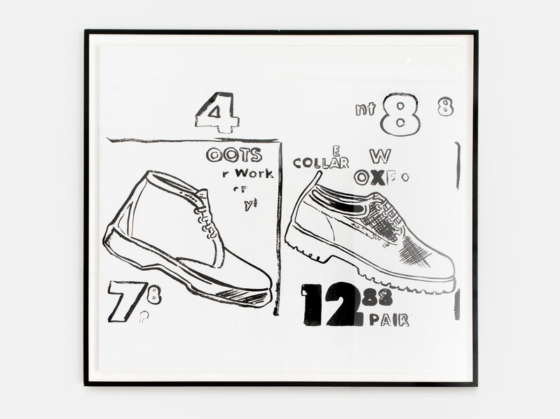 Andy Warhol, 'Work Boots', 1985-86, Painting, Synthetic polymer paint and silkscreen ink on canvas. Original. Stamped by the Estate of Andy Warhol and The Andy Warhol Foundation for the Visual Arts, Inc., Chase Contemporary