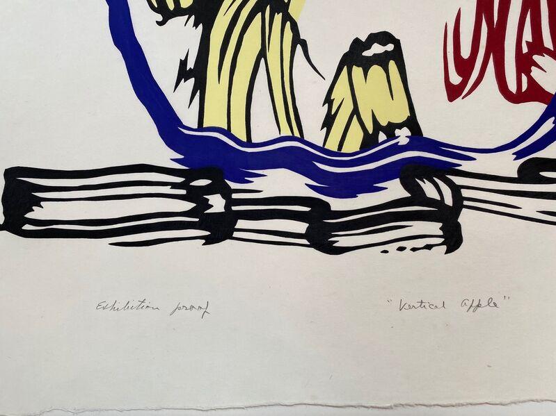 Roy Lichtenstein, 'Vertical Apple unique exhibition proof', 1982, Print, Woodcut on handmade Iwano Kizuki Hosho paper, Fine Art Mia